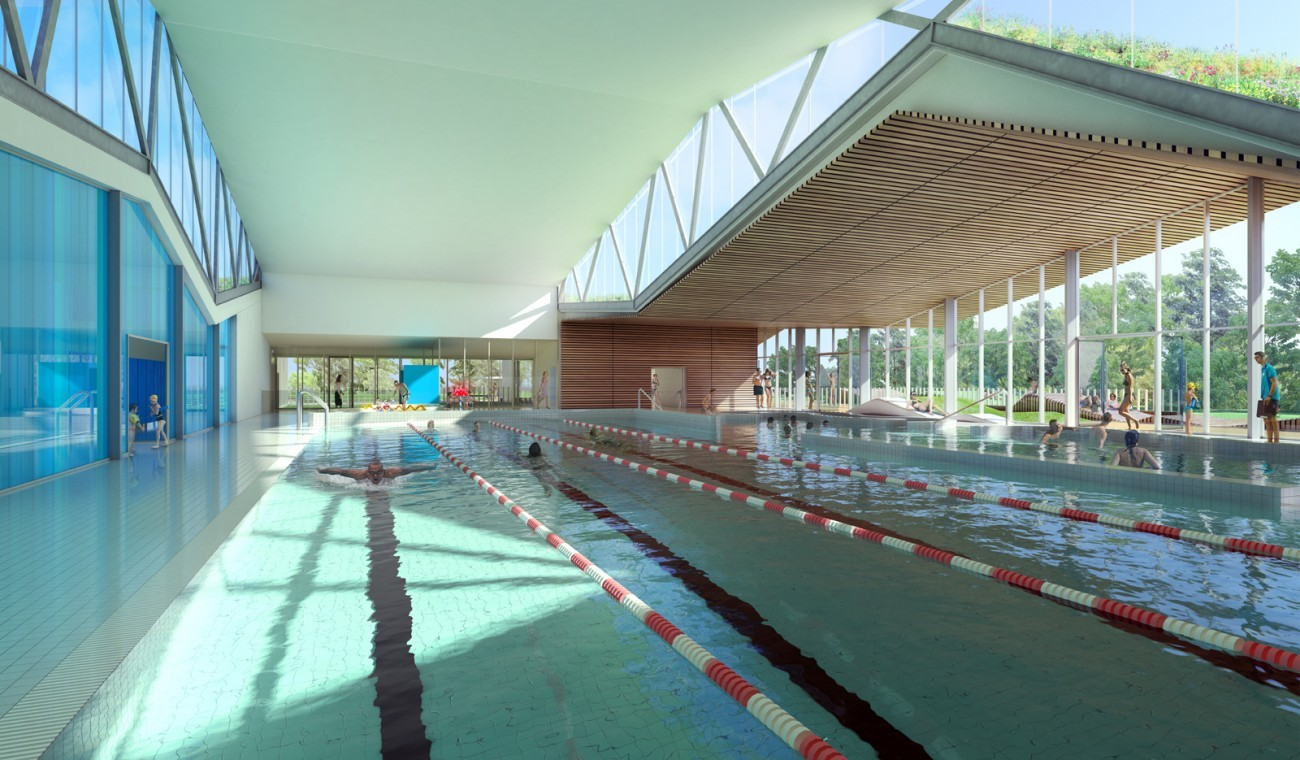 Bourgueil rouleau architectes piscine ch teau for Cout piscine couverte