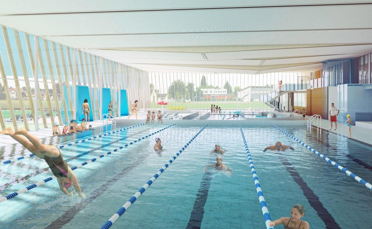 bourgueil rouleau architectes piscine de milly la