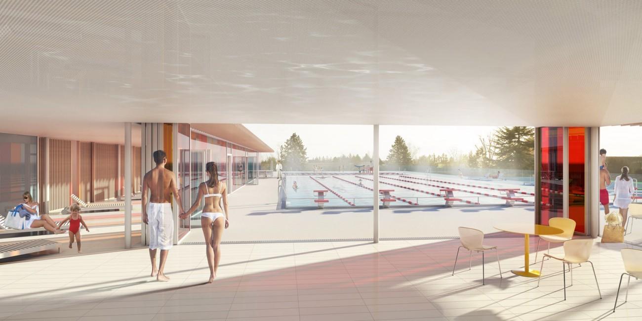 Bourgueil rouleau architectes piscine luynes 37 for Construction piscine 38