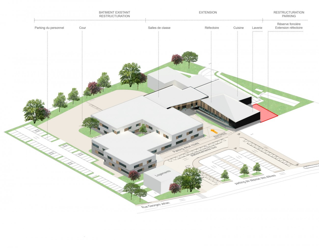 Bourgueil & Rouleau architectes - Restructuration du Collège Honoré ...