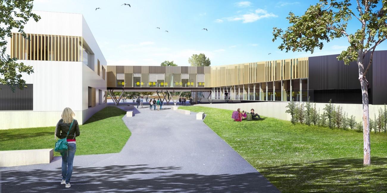 Bourgueil rouleau architectes restructuration du - College honore de balzac azay le rideau ...